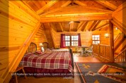 Loft Beds and Table Pentwater Michigan Vacation Rental