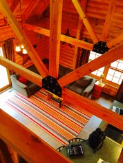 Pentwater MI vacation rental cabin arial 1