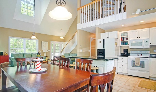 Kitchen and Dining Area, Ridge Road Cottage, Mears, MI