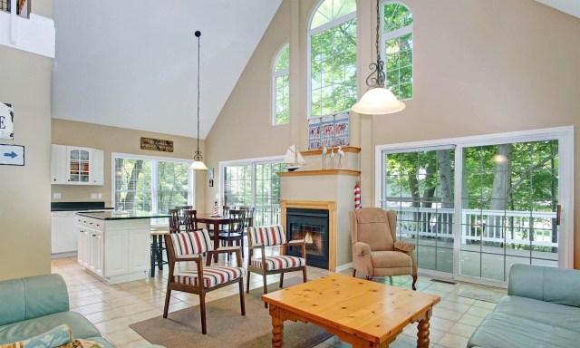 The Great Room, Ridge Road Cottage Mears, MI