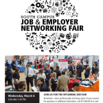 CCAC South Campus Job & Employer Networking Fair.   Wednesday, March 6th 2019