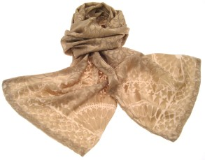 Gold Satin Devoré Scarf