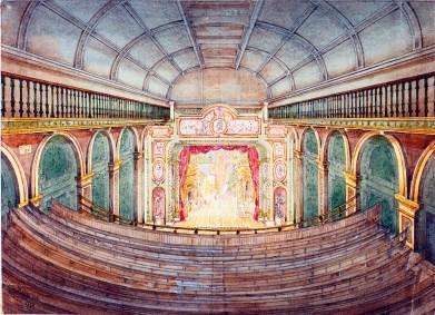 The-Regent-Street-Cinema-Original-watercolour-of-Royal-polytechnic