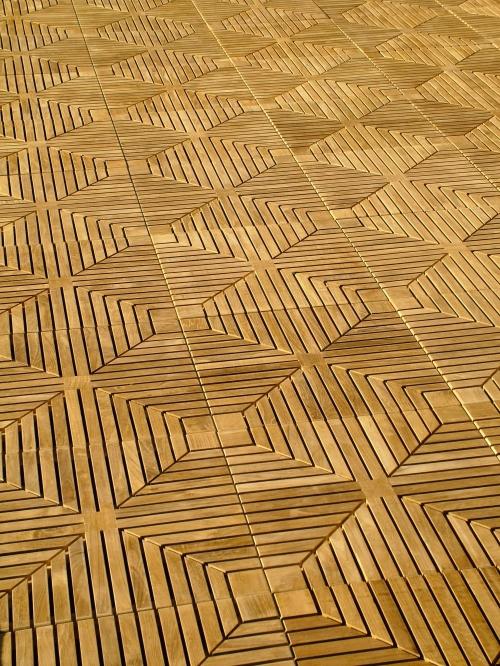 Diamond Teak Floor Tiles  Westminster Teak