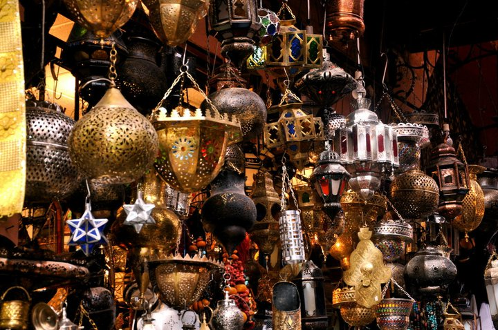 Lamps in the souk