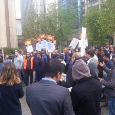 Demonstration against Uber drivers held in London in November (by @Yaseenaslam381)