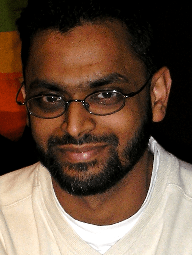 Moazzam Begg, 22 March 2003, before he spoke at a meeting about civil liberties hosted by the Respect party in Manchester. Taken by JK the Unwise with a Olympus FE-120 under