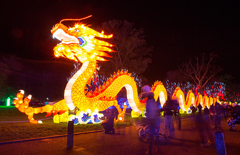 Chinese Lantern Festival lights up London's Chiswick House and Gardens
