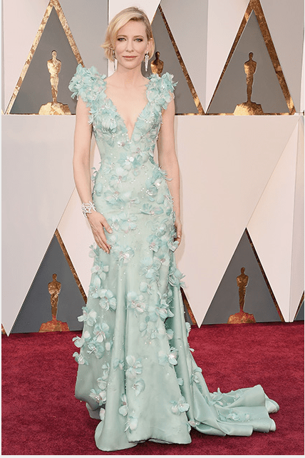 Cate Balnchett wearing an Armani Privé gown.