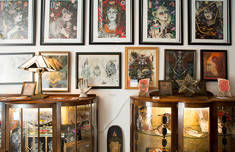 Tattoo works of the Seven Doors studio/Photo: Kate Berry