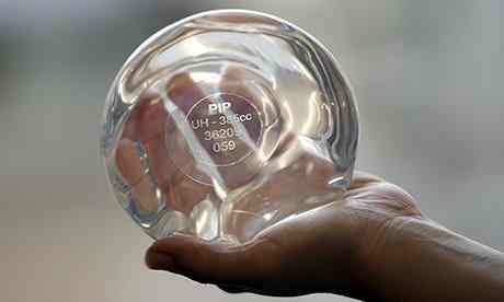 PIP breast implant Photo credit AFP
