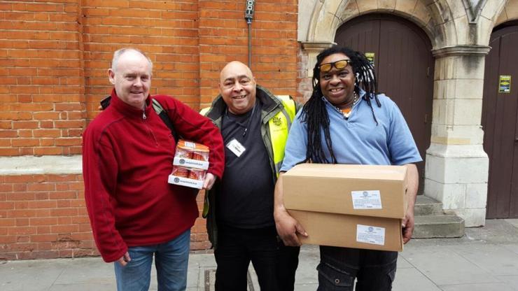 Mark Harvey, CEO of City Harvest London doing deliveries. Credit: Mark Harvey