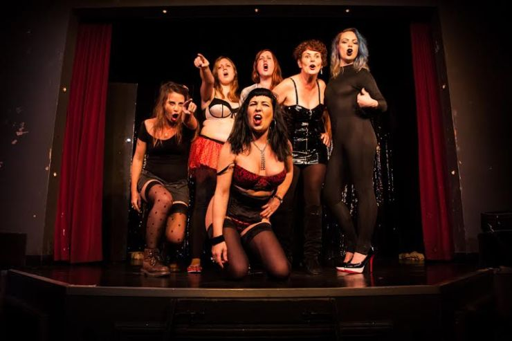 The girls on stage are tackling the stigma and stereotypes behind sex work. Photo by Sex Workers' Opera Press