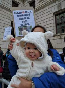 Hampstead mothers brought their babies with them to the march