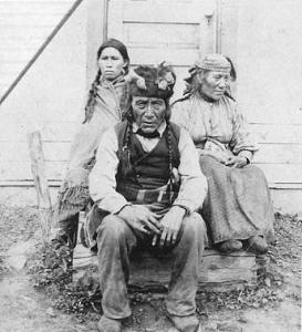 Dane-zaa (Beaver) chief and family in the Peace River area, Alberta, 1899.
