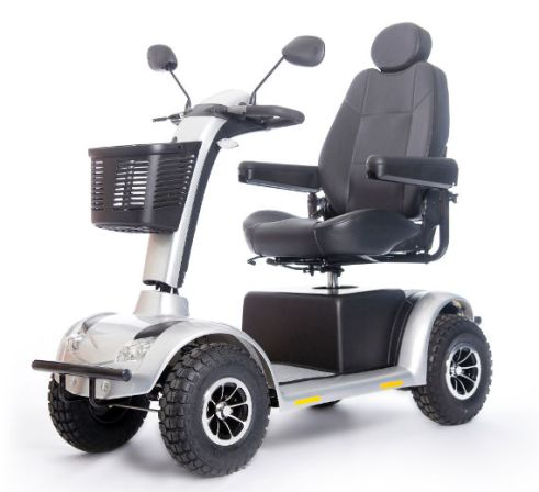 A stranger has given George Savage a mobility scooter after his was stolen last weekend while he was playing cards at the Knights of Columbus Hall in Sturgeon Falls. The stolen scooter is similar to the four-wheeled unit pictured here, but red and customized with a windshield, canopy and rear carrier. Getty Images Photo