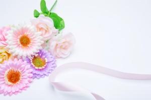 花とリボン