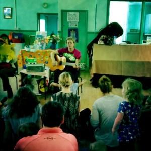 Singing at Rainbow Tots