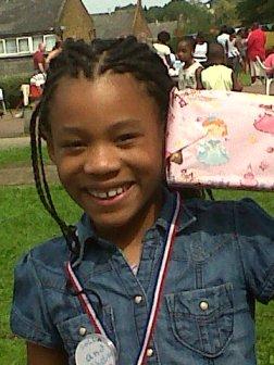 Shelisea aged nine wins a prize