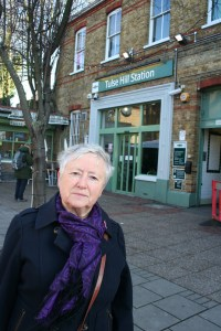 Cllr Ann Kingsbury at Tulse Hill station