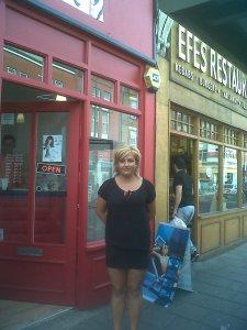 Emelia outside her Salon