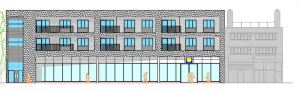 Proposed shop front on Beulah Hill