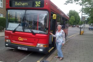 Cllr Jane Pickard at the York Hill stop
