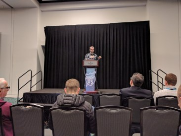 """Weston Ruter presenting """"Building with JavaScript in the Customizer"""" at WCUS 2017"""
