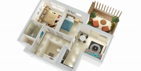 2 Bedrooms - Type C
