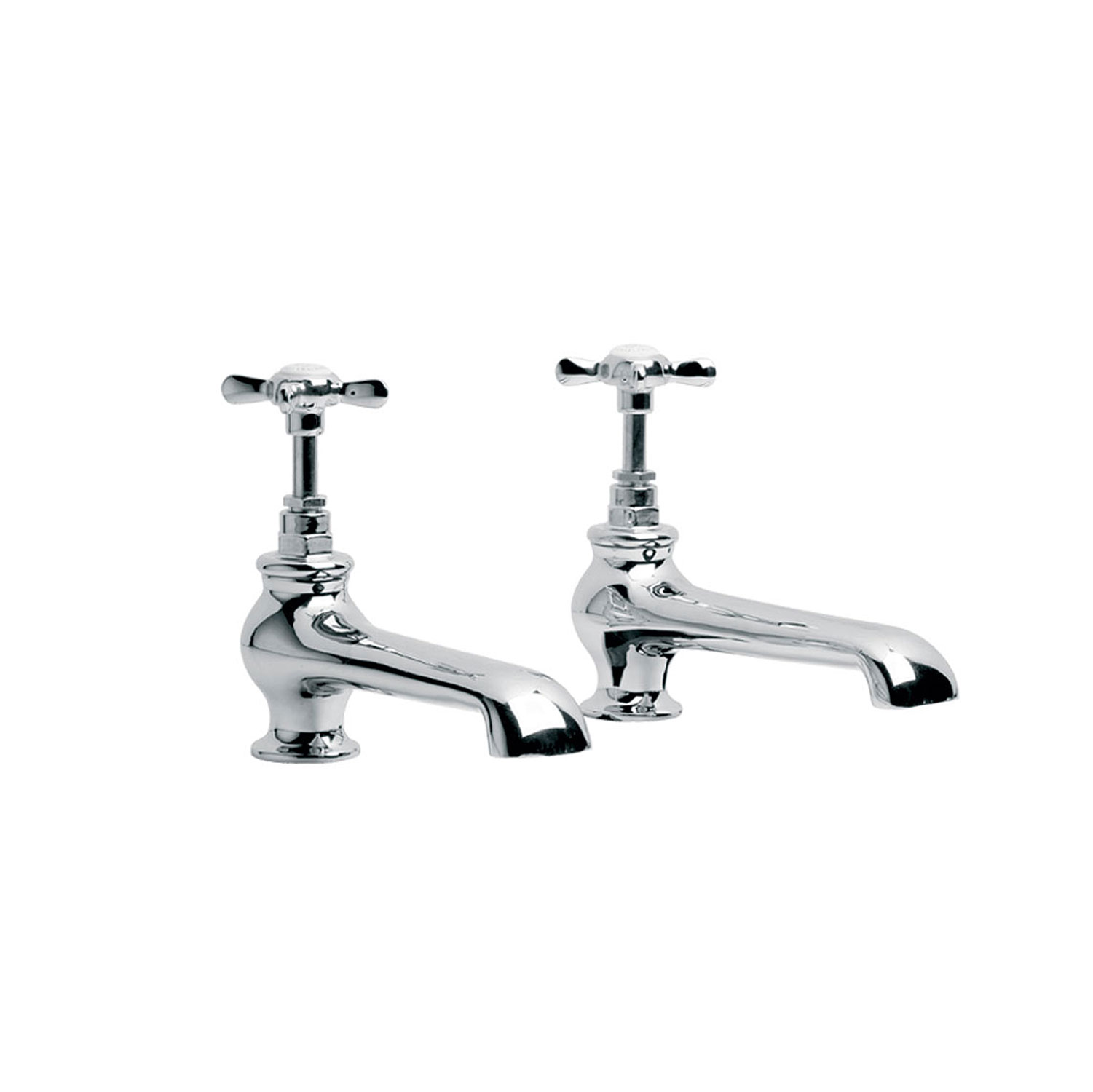 Lefroy Brooks Long Nose Bath Pillar Taps