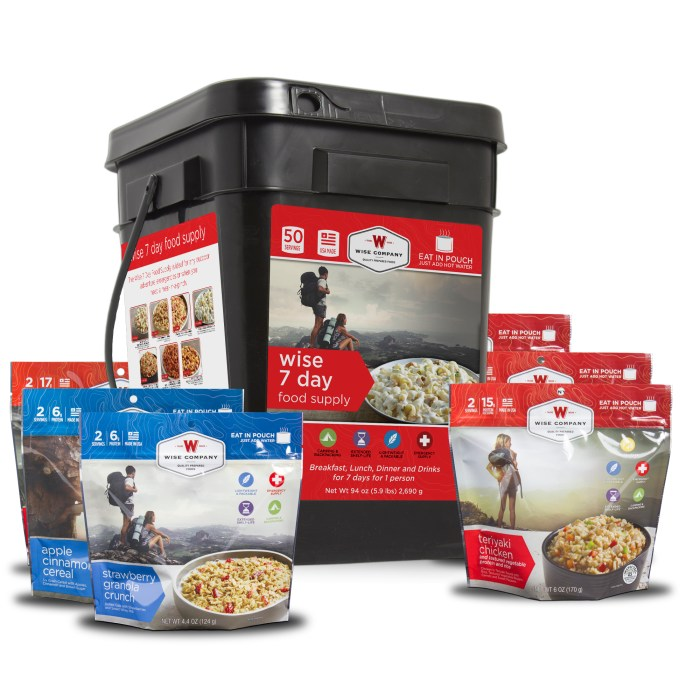 Ultimate Camping 7 Day Food Bucket