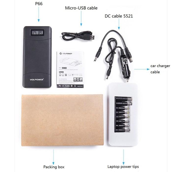 Black Volpower Multi-functional 15,600mah Power Bank P66 Accessories