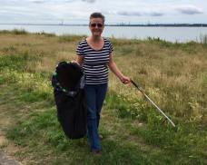 Councillor Sue Blatchford at the Big Beach Clean Up 2016!