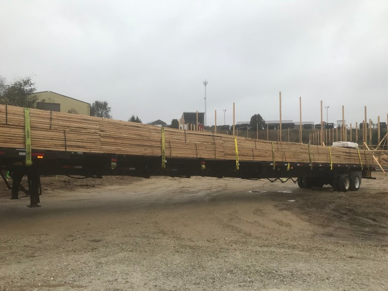 Trusses were delivered - Westosha Sports Complex