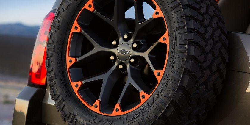 Luke Bryan Suburban concept at Sema with 22 inch wheels