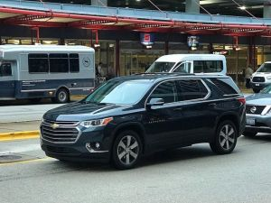 2018 chevrolet traverse in traffic