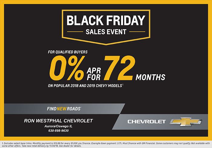 Black Friday starts early at Ron Westphal Chevrolet!