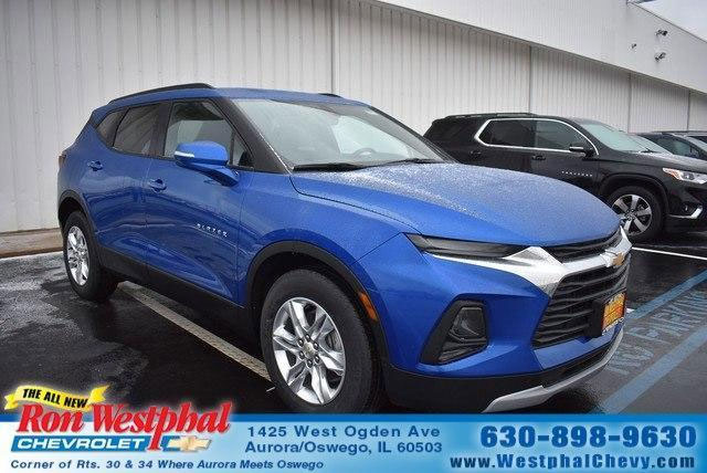 kinetic blue metallic exterior color 2019 Blazer in stock Ron Westphal Chevrolet