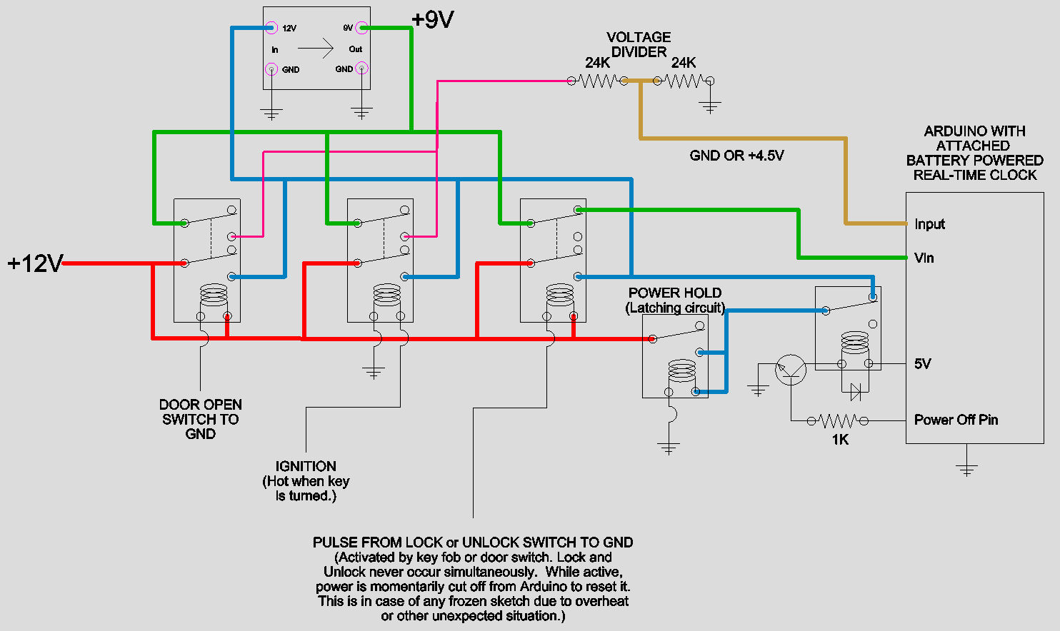 hight resolution of i know the car voltage is noisy and unstable but to my knowledge a relay coil isn t sensitive like a mircocontroller and the arduino itself is getting