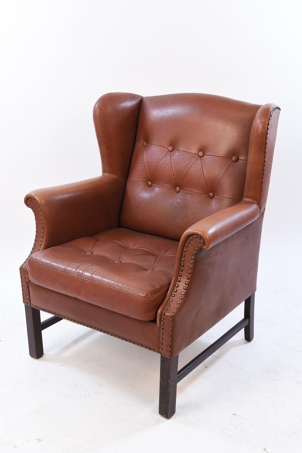 leather wingback chairs modway articulate office chair west port auction