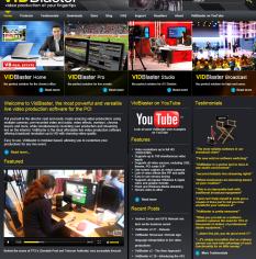 Screen dump of VidBlaster.com