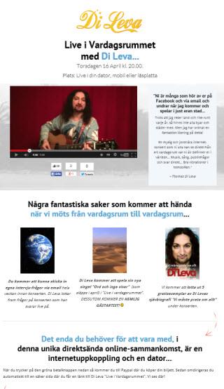 Skärmdump från Live i Vardsgsrummets webbsida