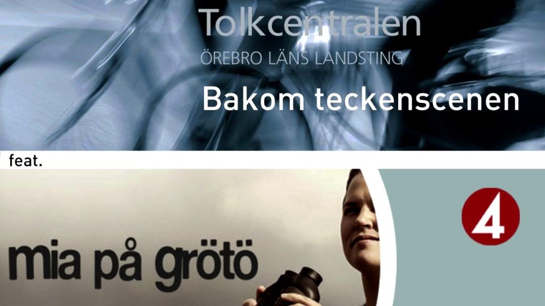 Stillbild från film av hur Tolkcentralen i Örebro livetolkar åt TV4