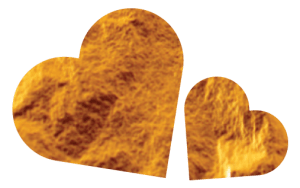 gold foil hearts