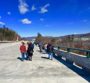 Walk across the I-91 Brattleboro Bridge, March 2017