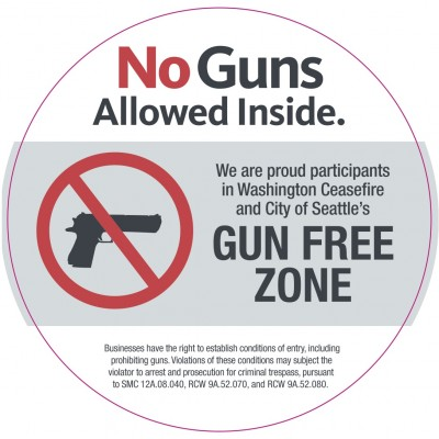 Voluntary Gun Free Zone Status Offered To Seattle Businesses West Seattle Blog