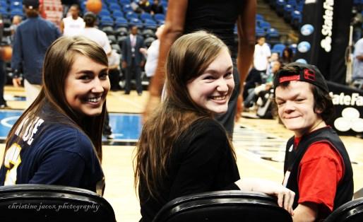 Sisters Elizabeth, Bridget and Tess