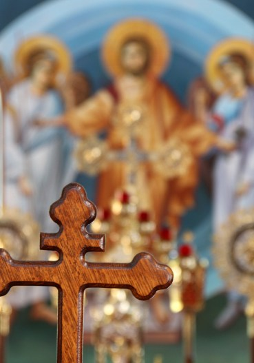 cross and saint