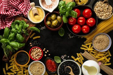 ingredients cooking italian fresh tasty various above related 1491 1220 copy concept space