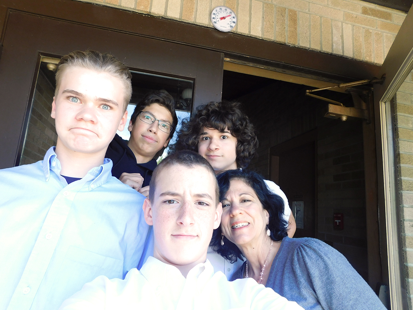 Upper School Students with Mrs. Foldesy